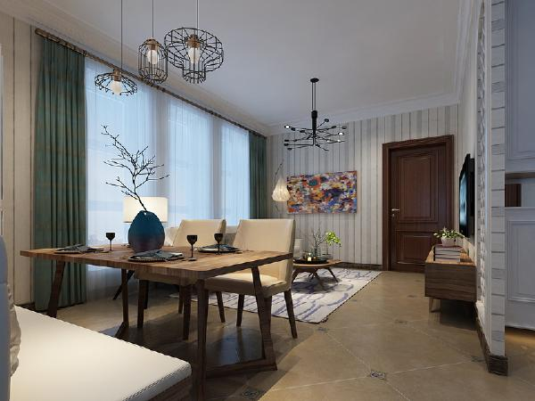 简单的石膏线条拉伸空间层次视觉干净整洁,素色软装和高级灰壁纸为空间增加了一份安宁的气息让生活在这间屋子里的主人体验到家庭带来的温馨与舒适。
