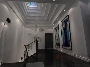 简约 别墅 现代 白领 80后 楼梯图片来自北京高度国际装饰在远洋傲北330㎡现代简约的分享