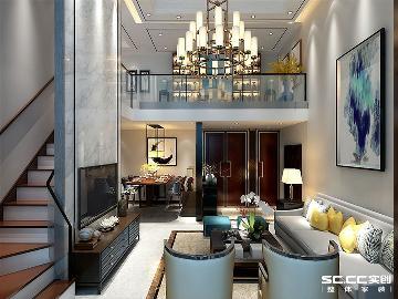 270平loft别墅中式鲁商蓝岸丽舍