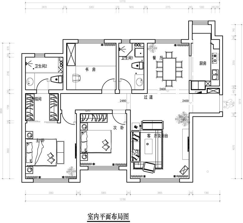 龙发装饰 洞庭路壹号 北欧 三居 三室两厅 户型图图片来自龙发装饰天津公司在洞庭路壹号135平米北欧风格的分享