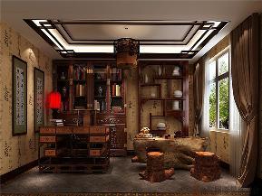 中式 三居 白领 大气 优雅 书房图片来自北京高度国际装饰在金色漫香苑140㎡中式的分享