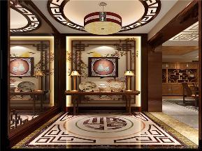中式 现代 三居 白领 小资 玄关图片来自北京高度国际装饰在金色漫香苑140㎡现代中式的分享