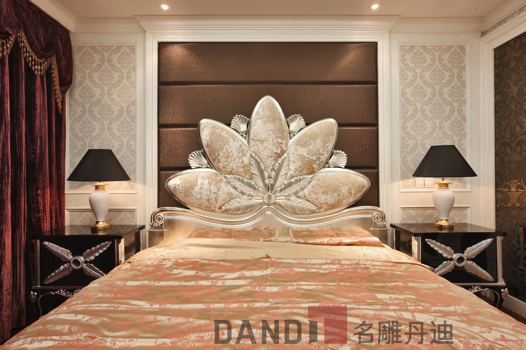 简约 欧式 田园 别墅 卧室图片来自名雕丹迪在万科璞悦山800平米别墅装修的分享