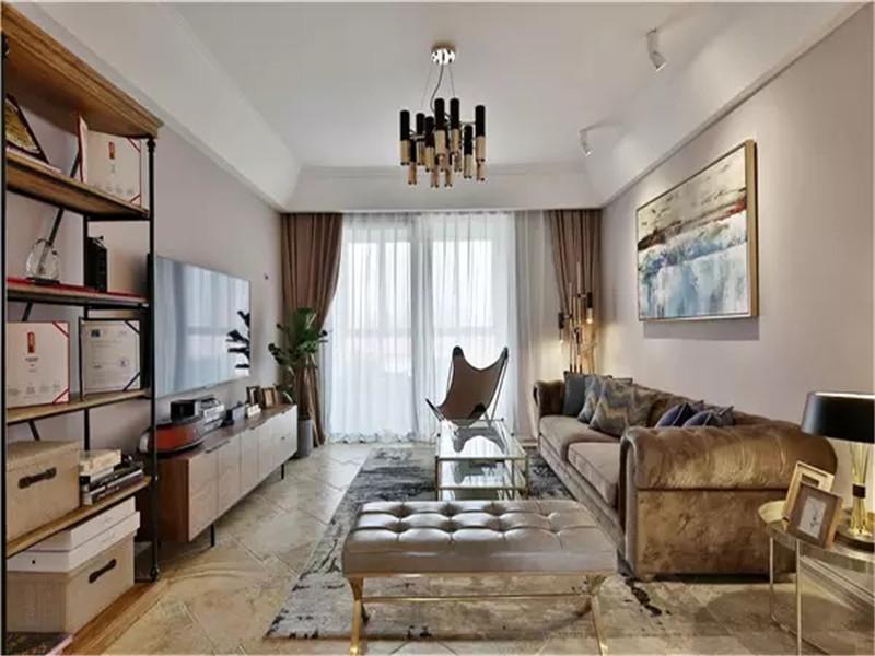 现代 混搭 现代混搭 三居 白领 小资 客厅图片来自沙漠雪雨在120平米现代混搭风三居享悦之所的分享