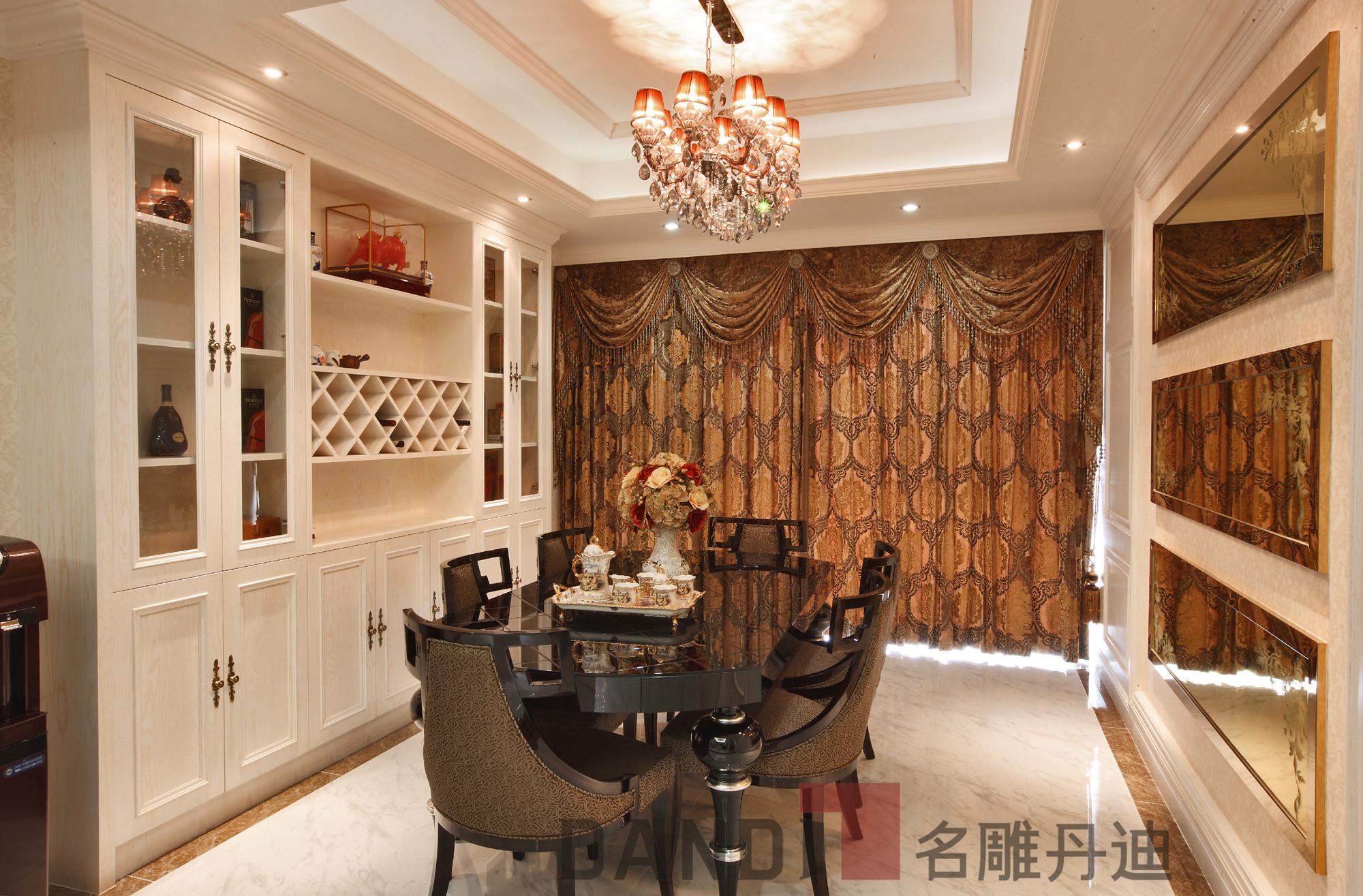 简约 欧式 田园 别墅 餐厅图片来自名雕丹迪在万科璞悦山800平米别墅装修的分享