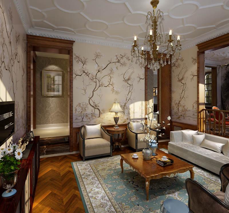 别墅 客厅图片来自尚筑装饰在浅水湾320平米 中式风的分享