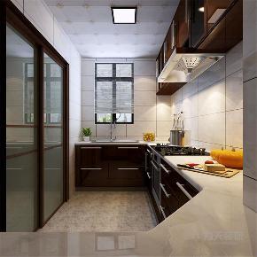 三居 中式 收纳 小资 厨房图片来自阳光放扉er在力天装饰-融创中心124㎡的分享