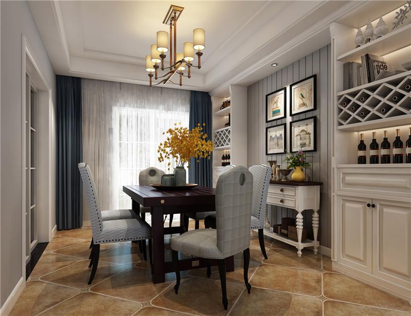 龙发装饰 格调林泉 三居 美式 室内装修 餐厅图片来自龙发装饰天津公司在格调林泉128平米美式风格的分享