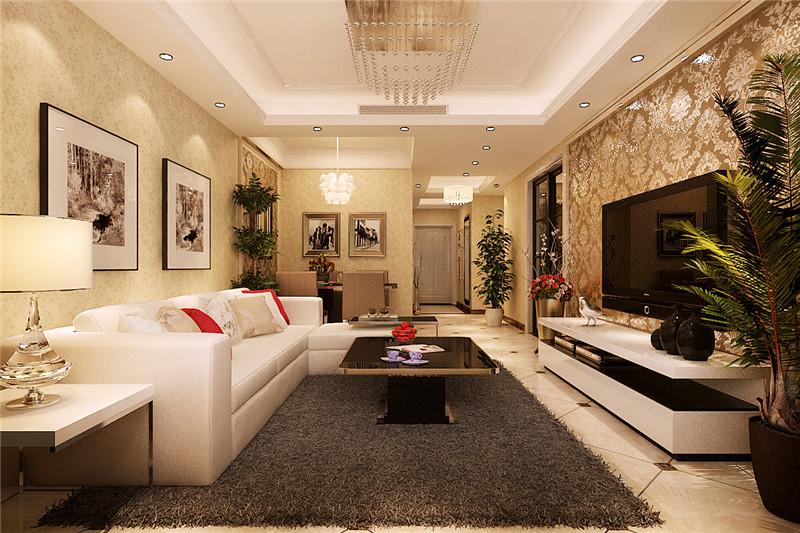 龙发装饰 大都会 三居 简欧 欧式 客厅图片来自龙发装饰天津公司在大都会120平米简欧风格的分享