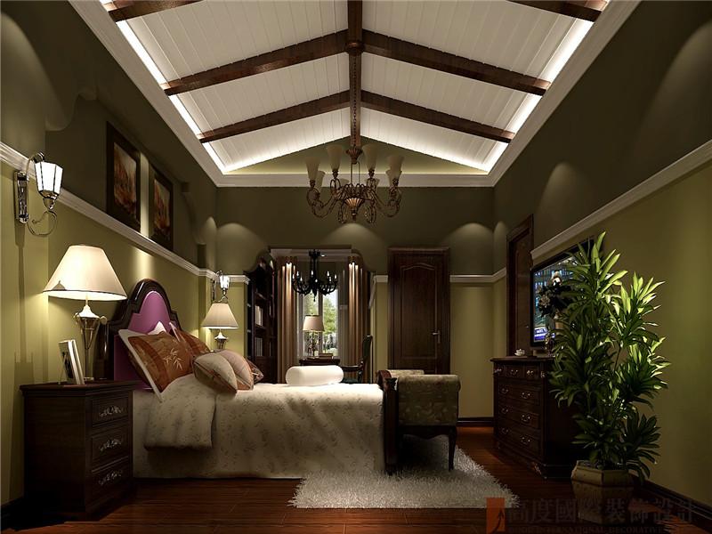 托斯卡纳 四居 别墅 优雅 大气 卧室图片来自北京高度国际装饰在潮白河孔雀城250托斯卡纳的分享