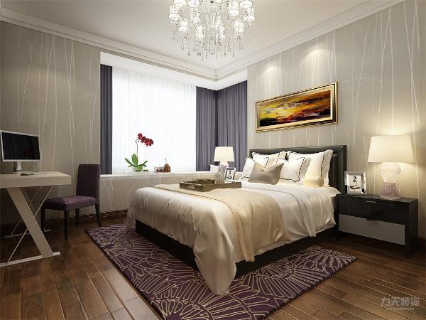 卧室的设计也很简单,床的选择很简单,内放有书桌和衣柜,给业主生活带来方便,主卧内还有衣帽间,衣帽间的设计能突出业主的生活品味。