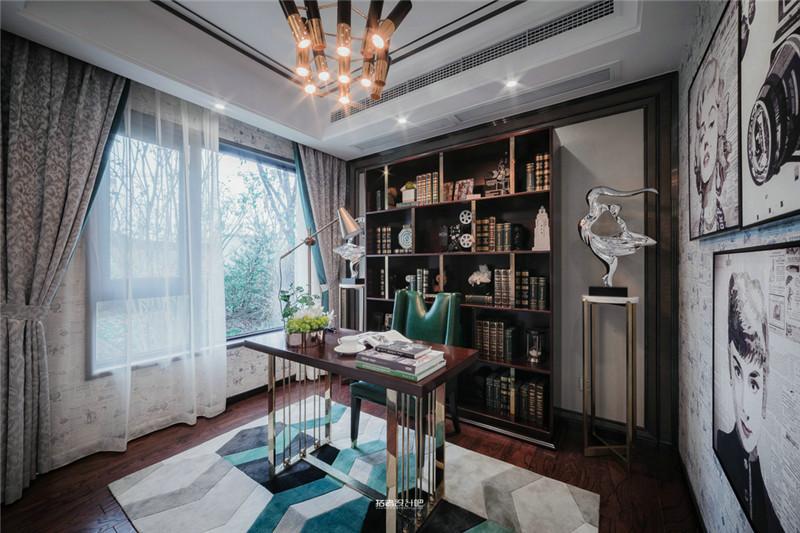 龙发装饰 格调林泉 复式 三居 美式 书房图片来自龙发装饰天津公司在格调林泉230平米美式风格的分享