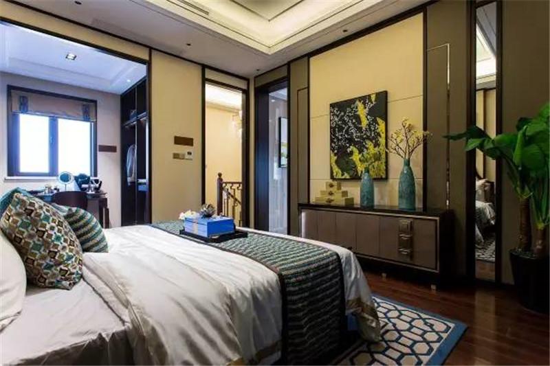 龙发装饰 现代 中式 格调林泉 平层 卧室图片来自龙发装饰天津公司在格调林泉250平米现代中式风格的分享