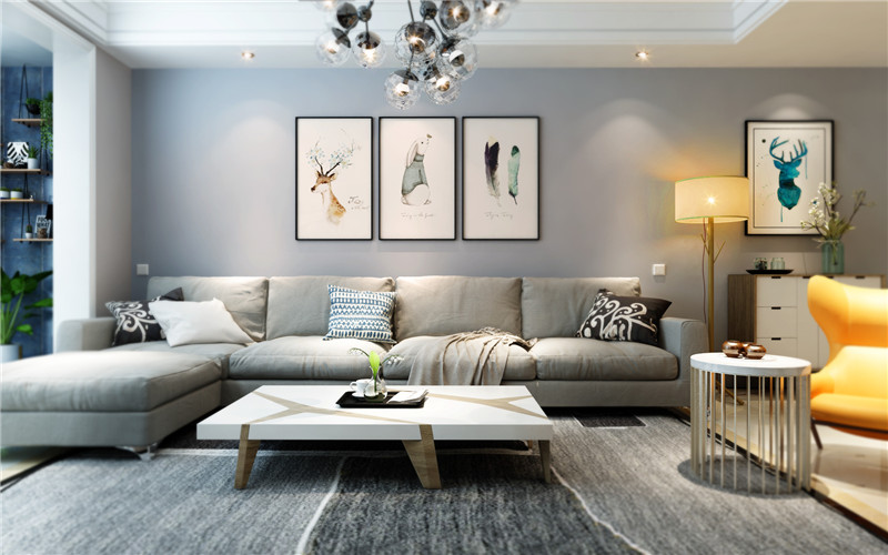 龙发装饰 格调林泉 二居 简约 现代 客厅图片来自龙发装饰天津公司在格调林泉101平米现代简约的分享