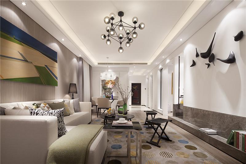 龙发装饰 格调林泉 现代 简约 二居 客厅图片来自龙发装饰天津公司在格调林泉90平米现代极简风格的分享