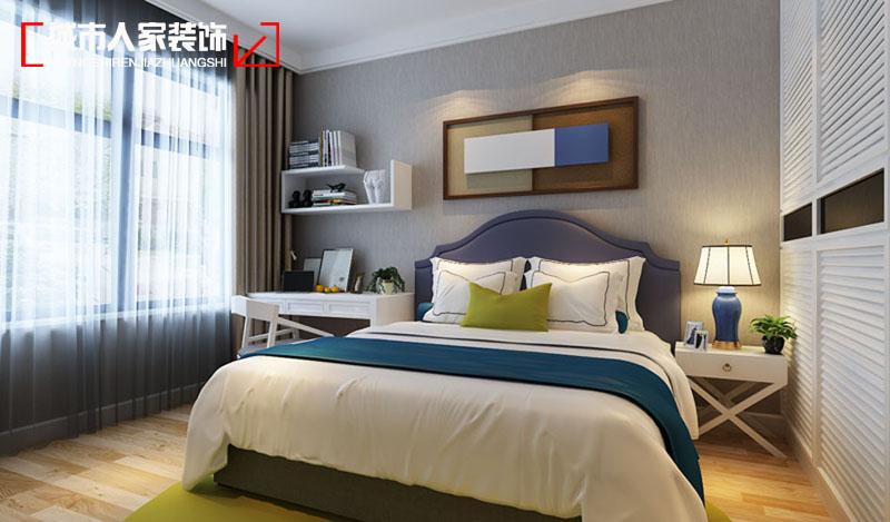 简约 三居 时尚 装修报价 设计案例 卧室图片来自太原城市人家原卯午在公园伍号三居室现代简约设计的分享