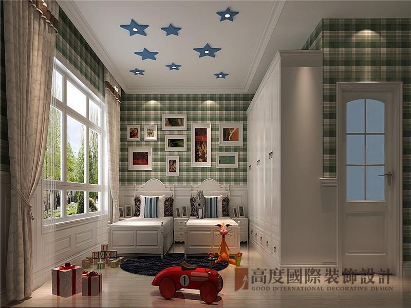 中式 新中式 别墅 棋盘山别墅 小资 儿童房图片来自沙漠雪雨在450平米新中式诗酒当歌人生几何的分享