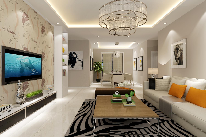 简约 客厅图片来自阿布的小茅屋15034052435在保利香槟国际135平米--现代简约的分享