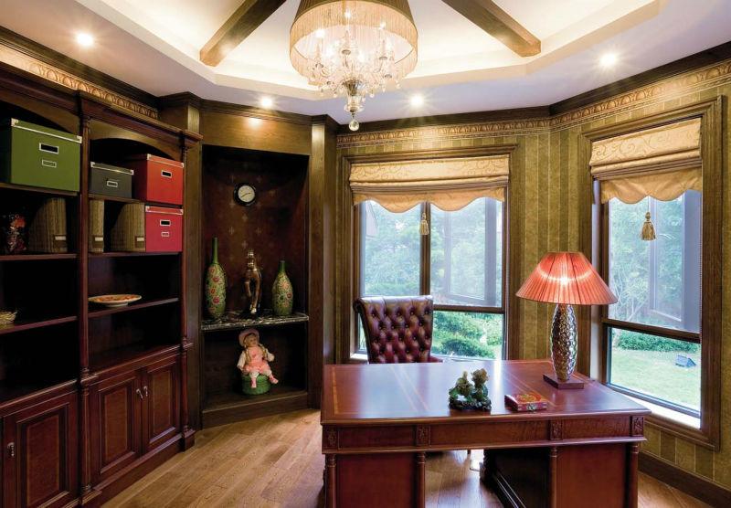 别墅 书房图片来自尚筑装饰在四海逸家 地中海风格的分享