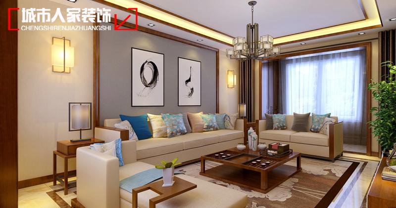 四居室 卧室 厨房 餐厅 客厅 新中式 中式 装修 设计图片来自用户5209446178在万达天玺180平米四居室样板间的分享