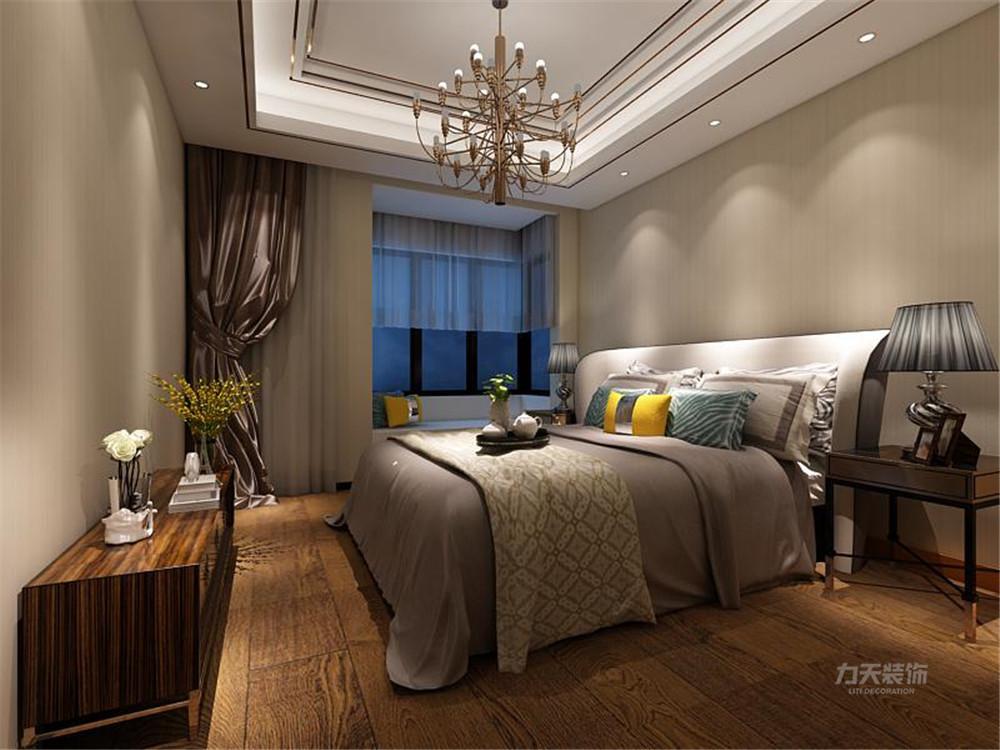 雅仕兰庭 欧式 二居 卧室图片来自阳光放扉er在力天装饰-雅仕兰庭89㎡欧式的分享