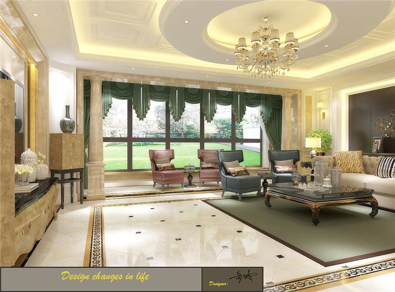 龙发装饰 格调林泉 平层 欧式 三居 客厅图片来自龙发装饰天津公司在格调林泉220平米欧式风格的分享