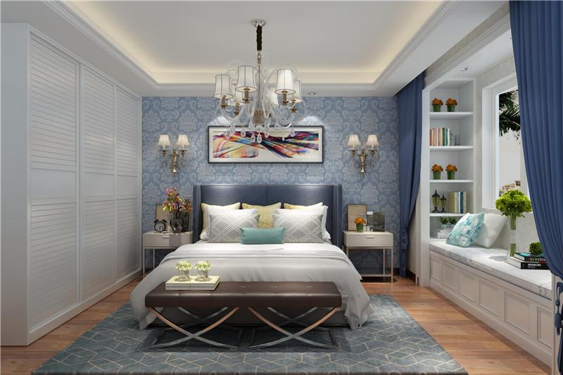 龙发装饰 格调林泉 三居 美式 室内装修 卧室图片来自龙发装饰天津公司在格调林泉128平米美式风格的分享