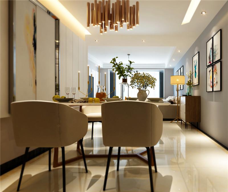 龙发装饰 格调林泉 二居 简约 现代 餐厅图片来自龙发装饰天津公司在格调林泉101平米现代简约的分享