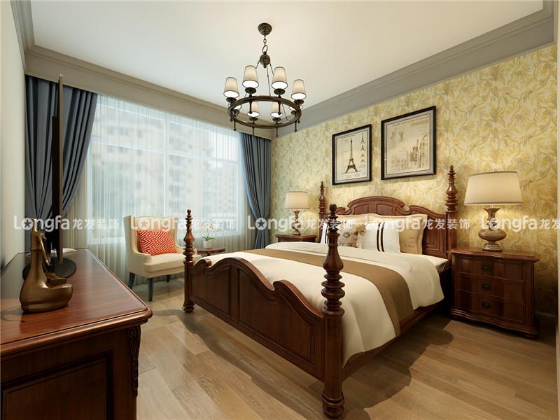 龙发装饰 美式 混搭 格调林泉 三居 卧室图片来自龙发装饰天津公司在格调林泉118平米美式混搭风格的分享