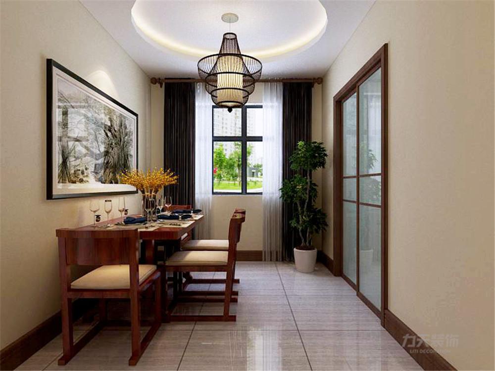融创中心 中式风格 三居 餐厅图片来自阳光放扉er在力天装饰-融创中心124㎡的分享