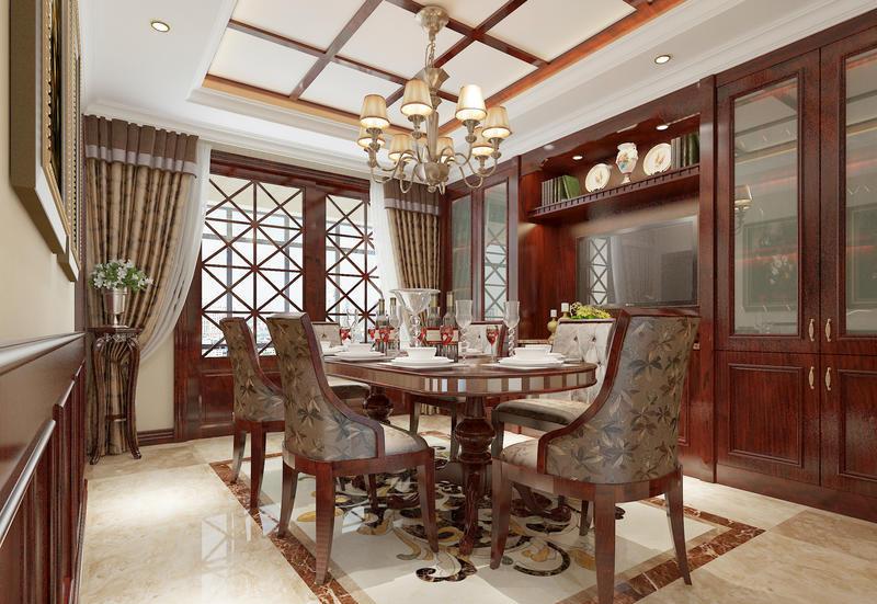 四居 美式 生活 时尚 装修 案例 餐厅图片来自严金玉在星艺瑞家U品185平经典美式案例的分享