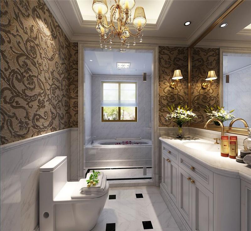 龙发装饰 格调林泉 三居 美式 室内装修 卫生间图片来自龙发装饰天津公司在格调林泉128平米美式风格的分享