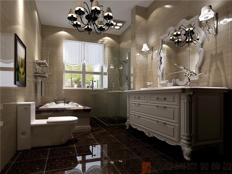 托斯卡纳 四居 别墅 优雅 大气 卫生间图片来自北京高度国际装饰在潮白河孔雀城250托斯卡纳的分享