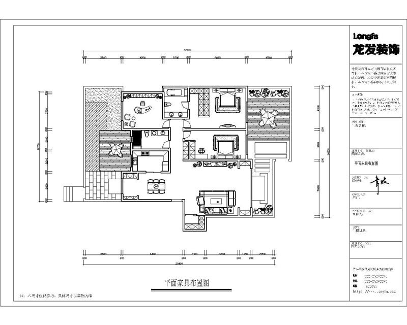龙发装饰 格调林泉 平层 欧式 三居 户型图图片来自龙发装饰天津公司在格调林泉220平米欧式风格的分享