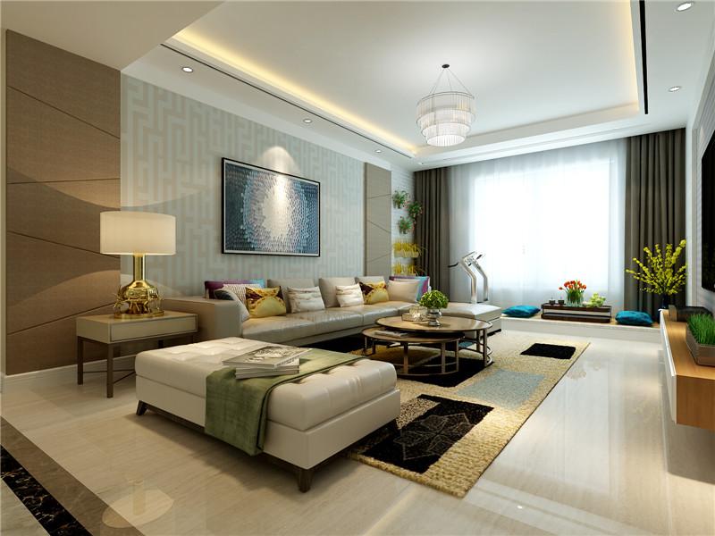 龙发装饰 格调林泉 简约 现代 三居 客厅图片来自龙发装饰天津公司在格调林泉132平米现代简约风格的分享