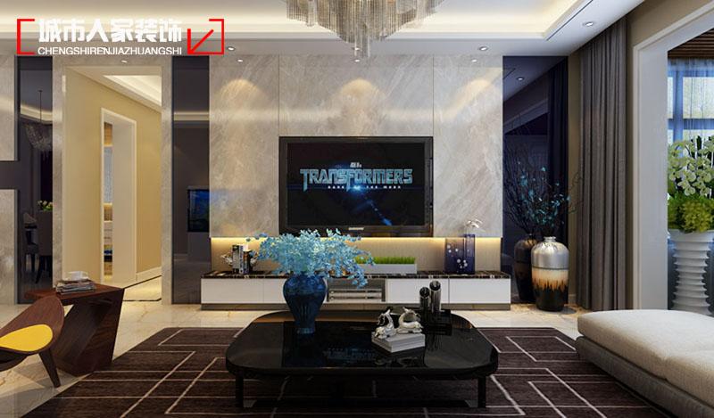 简约 三居 时尚 装修报价 设计案例 客厅图片来自太原城市人家原卯午在公园伍号三居室现代简约设计的分享