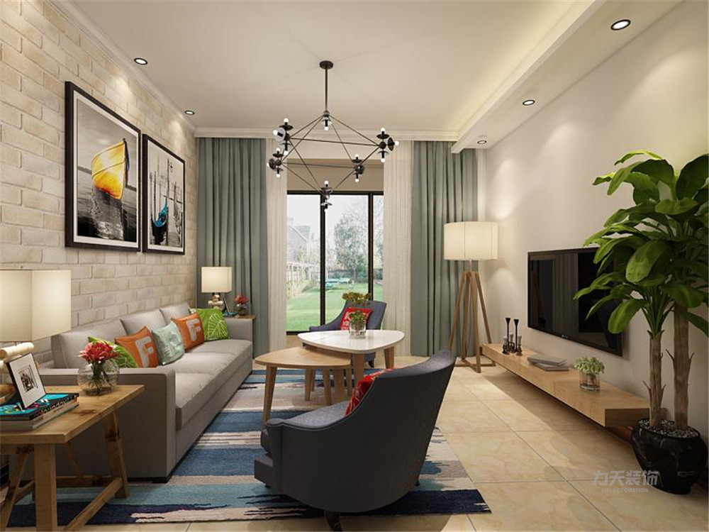 雅仕兰庭 欧式 二居 客厅图片来自阳光放扉er在力天装饰-雅仕兰庭89㎡欧式的分享