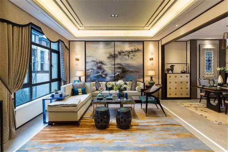 龙发装饰 现代 中式 格调林泉 平层 客厅图片来自龙发装饰天津公司在格调林泉250平米现代中式风格的分享
