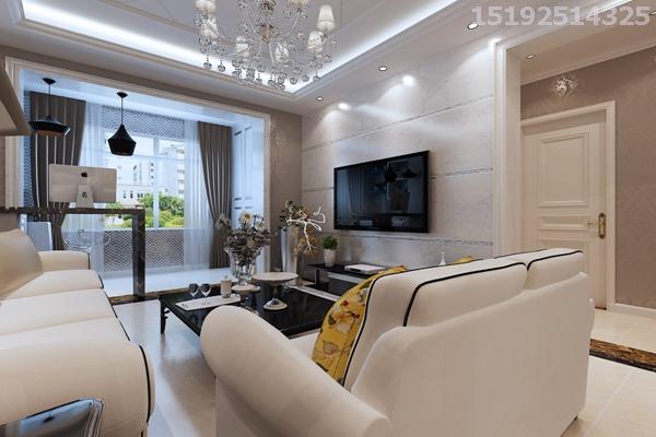 二居 新房 实创 简约 欧式 白领 80后 客厅图片来自快乐彩在启迪协信·青岛科技城81平简欧的分享