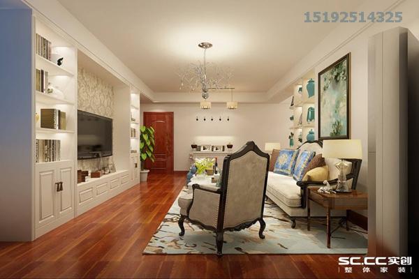 三居 鲁商首府 美式 实创 80后 客厅图片来自快乐彩在鲁商首府150平美式三居室的分享