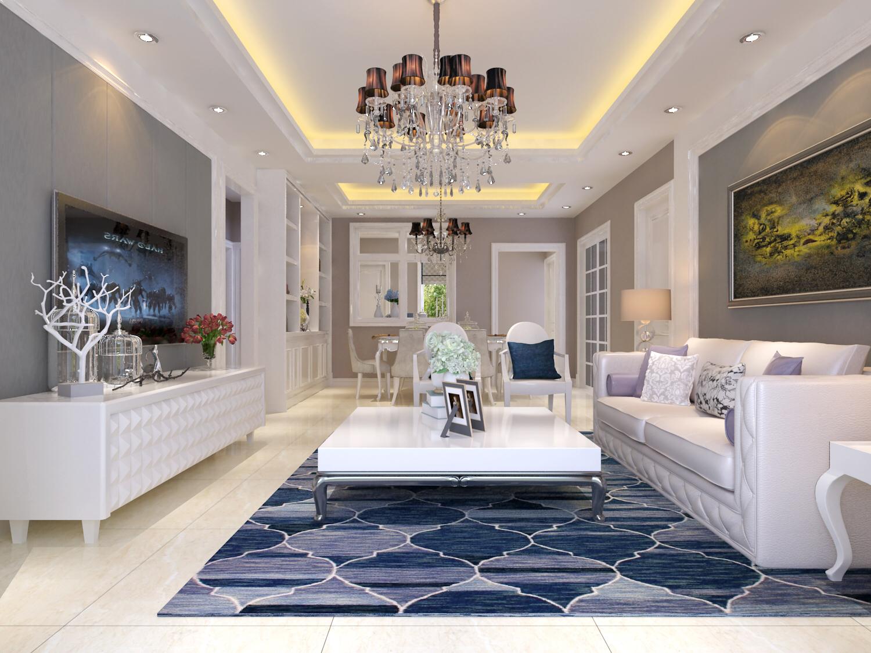 客厅图片来自刘政室内设计师在小浪底新中式的分享