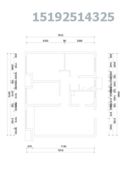 三居 简约 实创 中海蓝庭 小资 户型图图片来自快乐彩在中海蓝庭99平三居室简约装修案例的分享