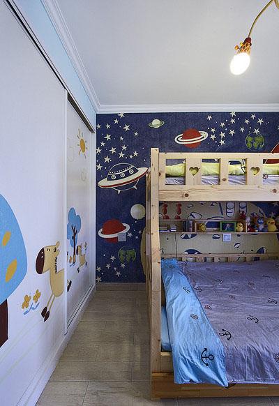 儿童房图片来自家装大管家在一眼惊喜 100平地中海温馨3居室的分享