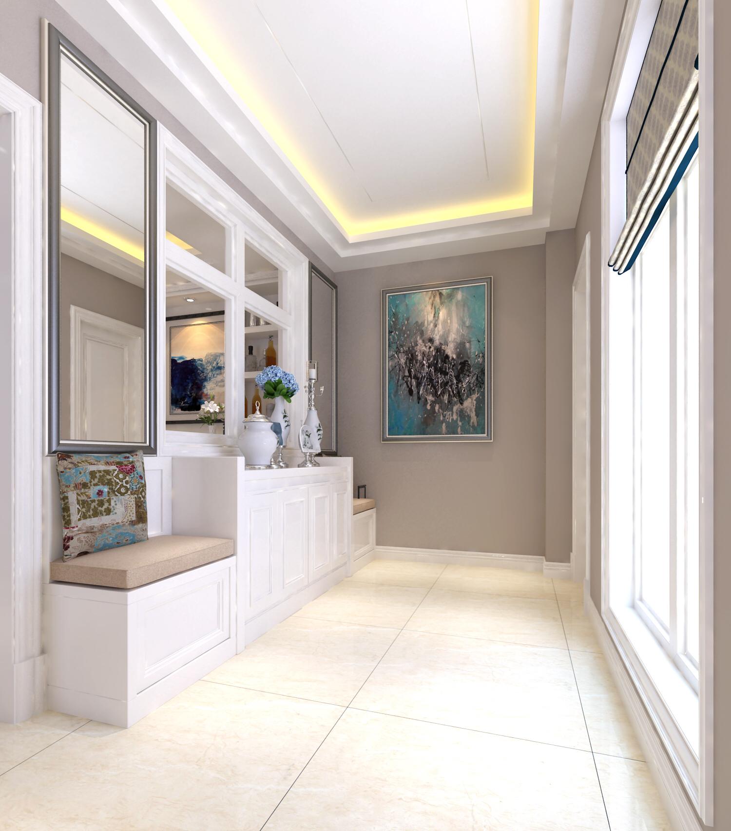 入户 花园图片来自刘政室内设计师在小浪底新中式的分享