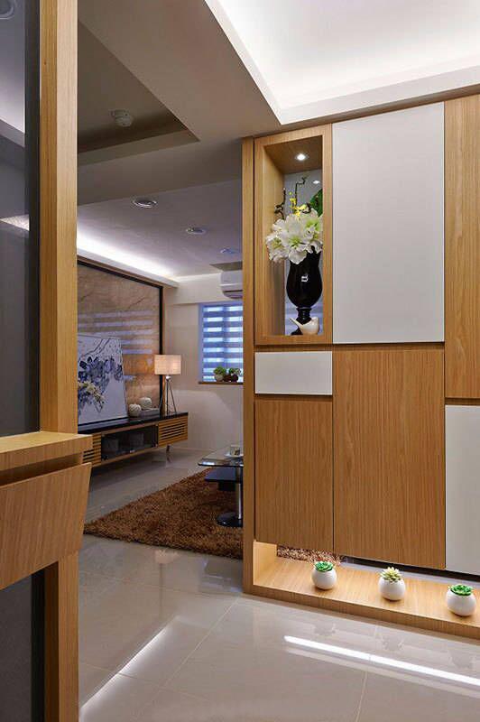 玄关图片来自家居装饰-赫拉在兰州实创装饰86㎡现代简约实景的分享