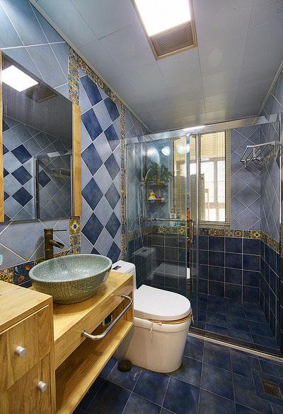 卫生间图片来自家装大管家在一眼惊喜 100平地中海温馨3居室的分享
