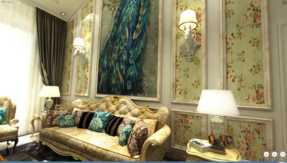 欧式 建邦 装饰 客厅 卧室 厨房图片来自建邦在美美的欧式华宅的分享