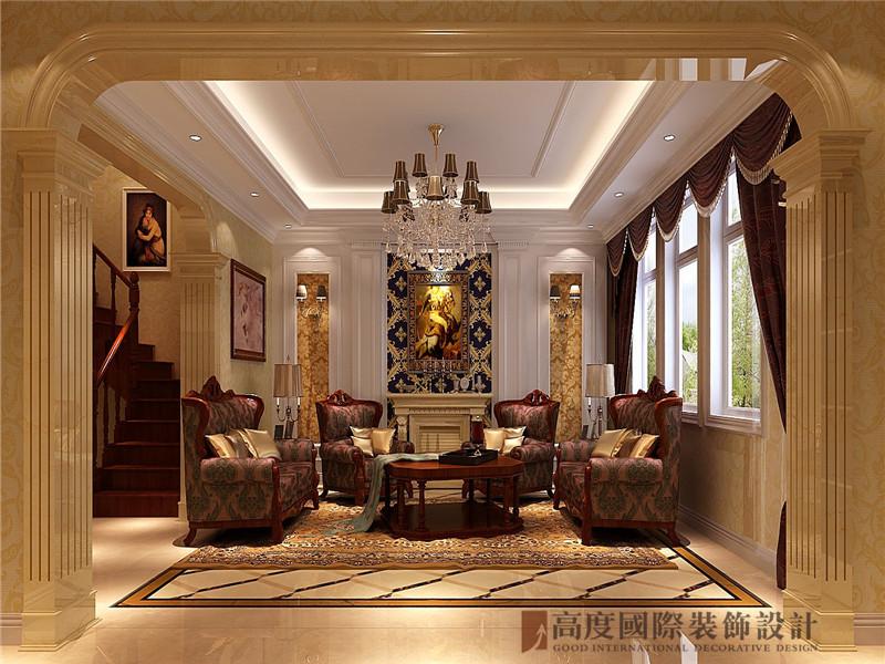 简欧 欧式 中海尚湖世 别墅 小资 客厅图片来自高度国际姚吉智在300平米简欧自然简朴的生活态度的分享