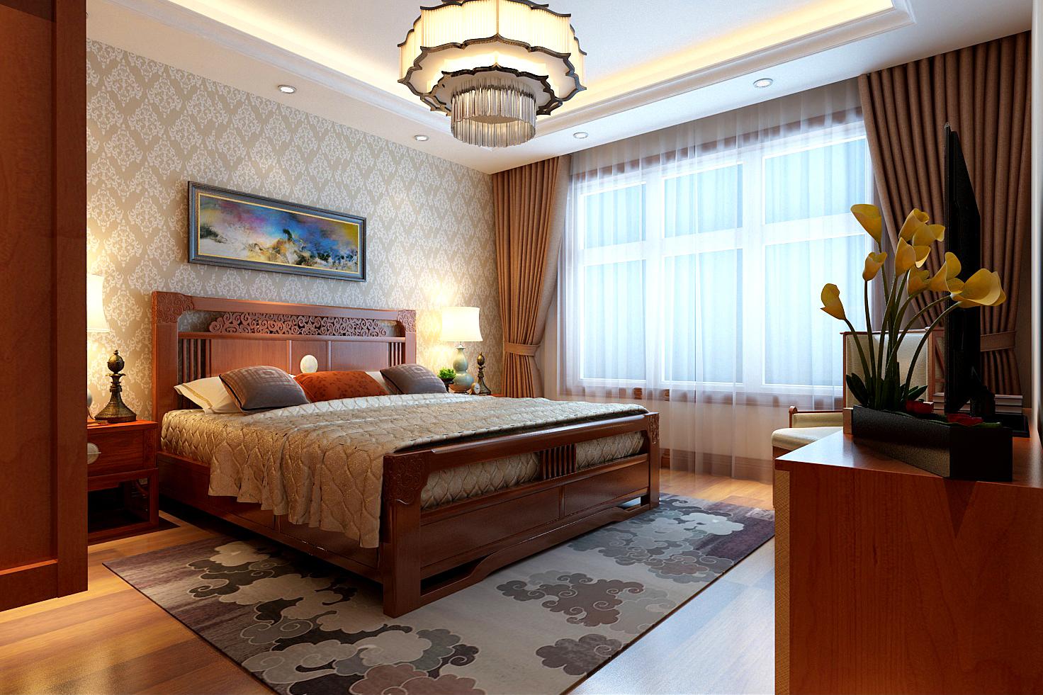 别墅 简约 小资 卧室图片来自轻舟装饰-90后的华仔在香江别墅-586平米-现代简约的分享