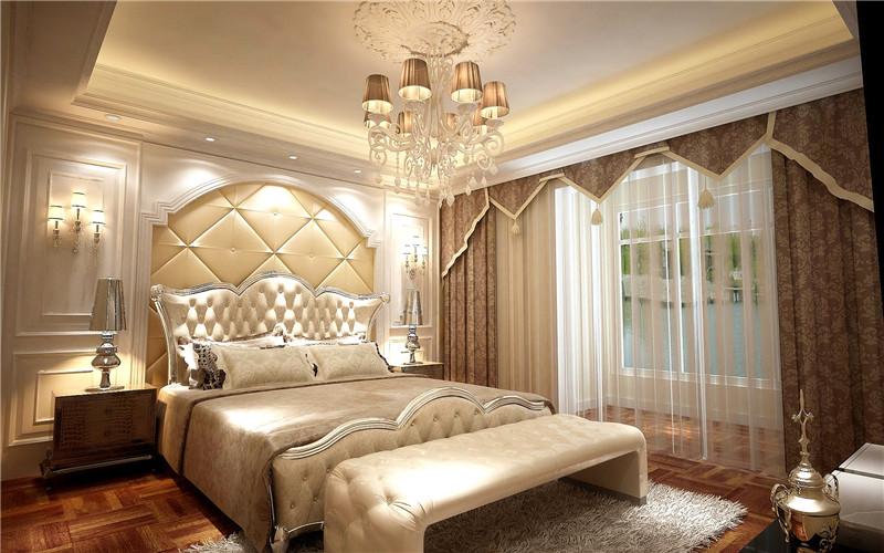 龙发装饰 珑著 三居 简约欧式 欧式 卧室图片来自龙发装饰天津公司在珑著160平米简欧风格的分享